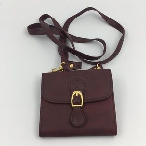 Red Wine Flap/Trifold Wallet Crossbody